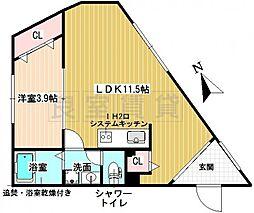 愛知県名古屋市千種区小松町7丁目の賃貸マンションの間取り