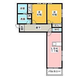 Mount明II[2階]の間取り
