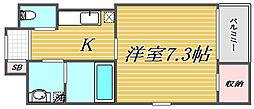 アニュー タカヒロ[4階]の間取り