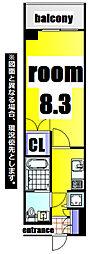 No.63 ORIENT CAPITAL TOWER 12階1Kの間取り