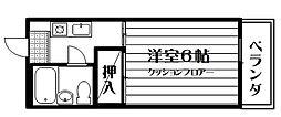 谷内コーポ[302号室]の間取り
