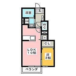 セレーノHARU[1階]の間取り