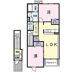 クレメントヒルA棟[2階]の間取り