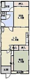 白亜荘[4F号室]の間取り