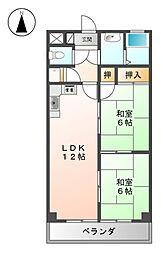 メゾンヤマモト[3階]の間取り