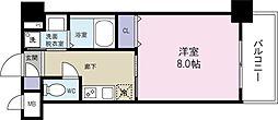 シンフォニー祇園 7階1Kの間取り
