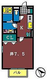 ロックウェル八千代台[2階]の間取り