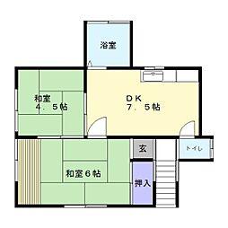 根倉アパート[201号室]の間取り