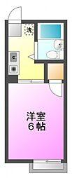 シティハイム小澤[2階]の間取り