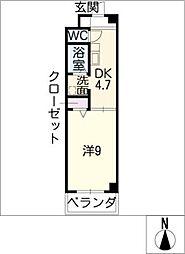 カーサ天神[2階]の間取り