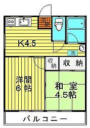 仙寿荘[202号室]の間取り
