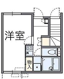 東京都足立区入谷7丁目の賃貸アパートの間取り