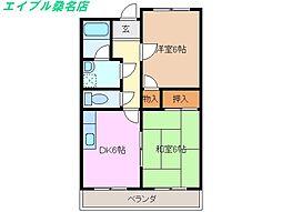 三重県桑名市大字和泉の賃貸マンションの間取り