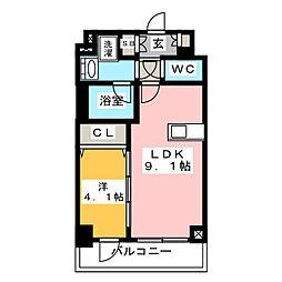 ディームス東陽町II 2階1LDKの間取り
