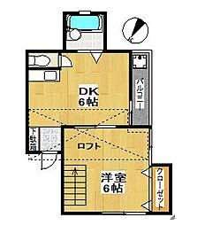 MKハイツ[2階]の間取り