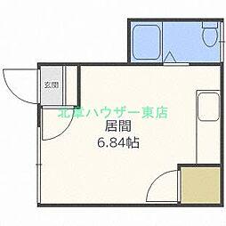 北海道札幌市東区北三十一条東8丁目の賃貸アパートの間取り