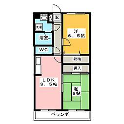 ボーネンKII[1階]の間取り