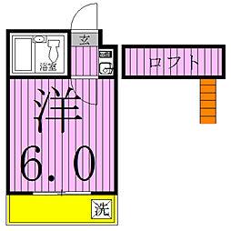 ジュネパレス松戸第133[2階]の間取り