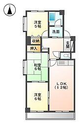 エスポワール五反田[1階]の間取り