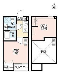 神奈川県座間市緑ケ丘4の賃貸アパートの間取り