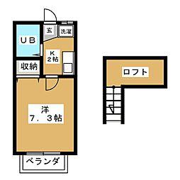 エスエスハイツ鈴鹿[2階]の間取り