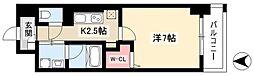 グランツェ名駅太閤通 2階1Kの間取り