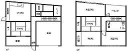 [一戸建] 兵庫県三木市福井1丁目 の賃貸【/】の間取り