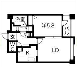 ディアハイム浅草[4階]の間取り