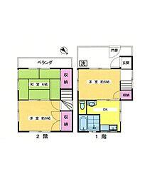 [一戸建] 東京都中野区野方2丁目 の賃貸【/】の間取り