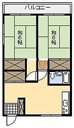 瀧口アパート[201号室]の間取り
