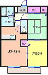 和歌山県有田市港町の賃貸アパートの間取り