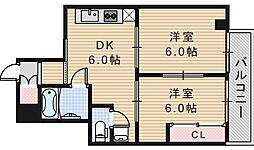 ルナハイム野田[105号室]の間取り