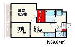 プランドール片江[2階]の間取り
