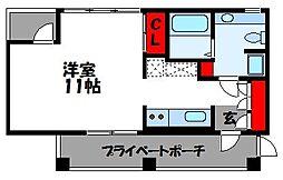 福岡県古賀市古賀の賃貸マンションの間取り