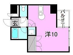 サンライズ豊坂[707 号室号室]の間取り