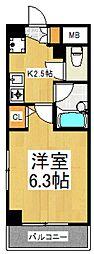 セイコーガーデンVI[6階]の間取り