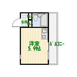 スカイコート青戸[4階]の間取り