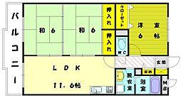 レジデンス久保田[1階]の間取り