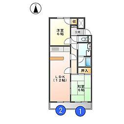 メゾンASAHI[3階]の間取り