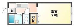 岡山県岡山市北区東古松の賃貸アパートの間取り