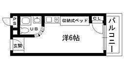 ピュアハウス甲子園[601号室]の間取り