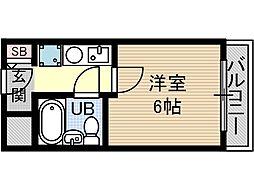 セルフハイム茨木[3階]の間取り