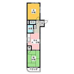 ホワイトハイツヒビノ[3階]の間取り