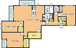 クレスト則松[2階]の間取り