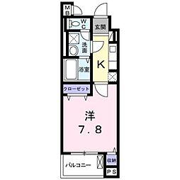 沖縄都市モノレール てだこ浦西駅 バス17分 宜野湾下車 徒歩3分の賃貸マンション 1階1Kの間取り