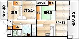 コモグランデ[6階]の間取り