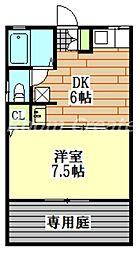 徳島県徳島市中島田町4丁目の賃貸アパートの間取り