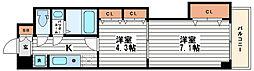 セントラル南船場[13階]の間取り