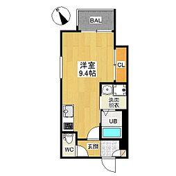 愛知県名古屋市名東区社台2丁目の賃貸アパートの間取り