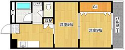 アメニティ住之江1[4階]の間取り
